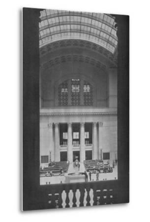 Main waiting room, Chicago Union Station, Illinois, 1926--Metal Print
