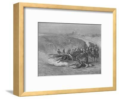Victorian Derby at Tattenham Corner, 1872-Gustave Dor?-Framed Giclee Print