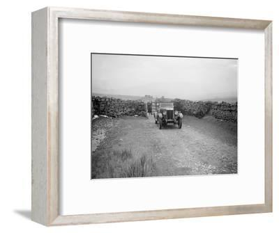 Kitty Brunell road testing a MG 18 - 80, April 1931-Bill Brunell-Framed Photographic Print