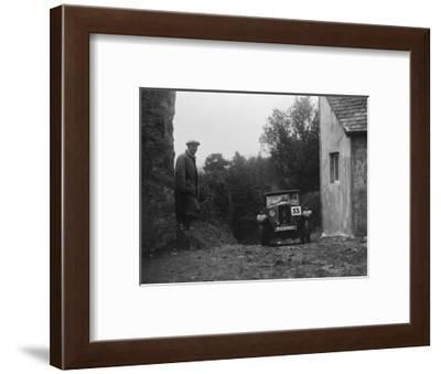 1929 Riley saloon of AP Squire competing in the JCC Lynton Trial, 1932-Bill Brunell-Framed Photographic Print