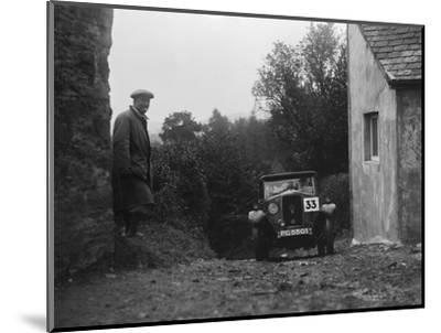 1929 Riley saloon of AP Squire competing in the JCC Lynton Trial, 1932-Bill Brunell-Mounted Photographic Print