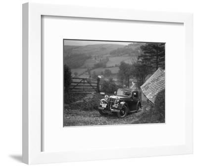 1934 Standard Avon Ten coupe taking part in a Standard Car Owners Club trial-Bill Brunell-Framed Photographic Print