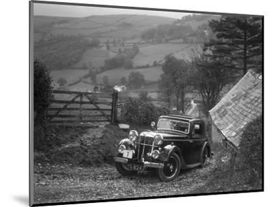 1934 Standard Avon Ten coupe taking part in a Standard Car Owners Club trial-Bill Brunell-Mounted Photographic Print