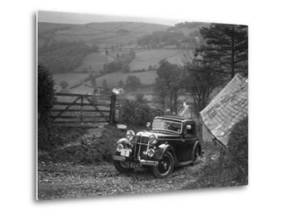 1934 Standard Avon Ten coupe taking part in a Standard Car Owners Club trial-Bill Brunell-Metal Print