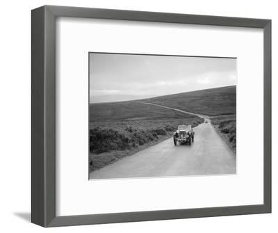 EH Goodenoughs MG PB competing at the MCC Torquay Rally, July 1937-Bill Brunell-Framed Photographic Print