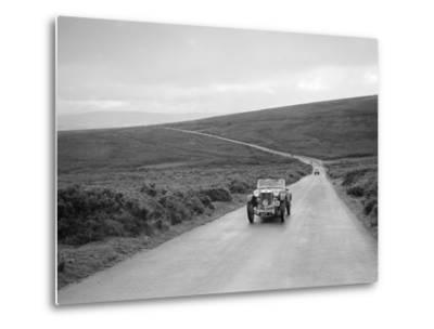 EH Goodenoughs MG PB competing at the MCC Torquay Rally, July 1937-Bill Brunell-Metal Print