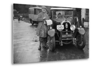 Austro-Daimler used as an officials car at the Inter-Varsity Trial, 1930-Bill Brunell-Metal Print