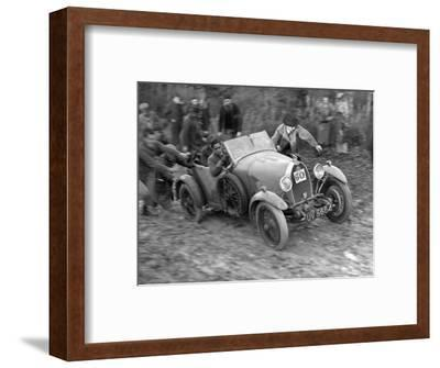 1929 Bugatti Type 40 open 4-seater Grand Sport taking part in the Inter-Varsity Trial, 1930-Bill Brunell-Framed Photographic Print