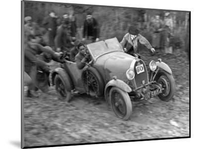 1929 Bugatti Type 40 open 4-seater Grand Sport taking part in the Inter-Varsity Trial, 1930-Bill Brunell-Mounted Photographic Print