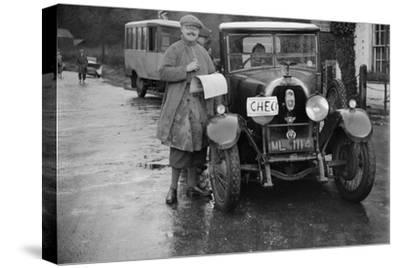 Austro-Daimler used as an officials car at the Inter-Varsity Trial, 1930-Bill Brunell-Stretched Canvas Print