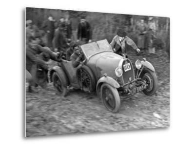 1929 Bugatti Type 40 open 4-seater Grand Sport taking part in the Inter-Varsity Trial, 1930-Bill Brunell-Metal Print
