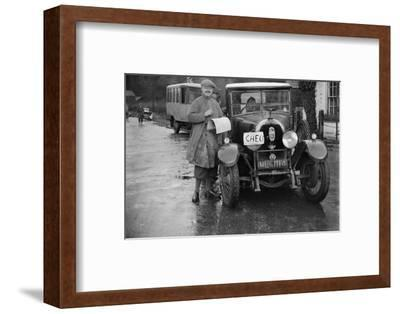 Austro-Daimler used as an officials car at the Inter-Varsity Trial, 1930-Bill Brunell-Framed Photographic Print