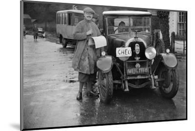Austro-Daimler used as an officials car at the Inter-Varsity Trial, 1930-Bill Brunell-Mounted Photographic Print