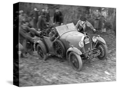 1929 Bugatti Type 40 open 4-seater Grand Sport taking part in the Inter-Varsity Trial, 1930-Bill Brunell-Stretched Canvas Print