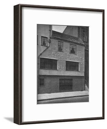 Detail of parge work, office and residence of Frederick Sterner, New York, 1922--Framed Photographic Print