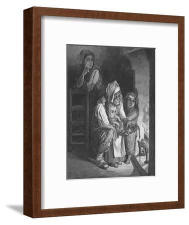 The Countryman and the Serpent, 1870-Gauchard Brunier-Framed Giclee Print