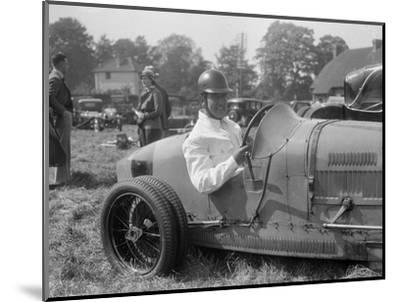 Bugatti Type 35, Bugatti Owners Club Hill Climb, Chalfont St Peter, Buckinghamshire, 1935-Bill Brunell-Mounted Photographic Print