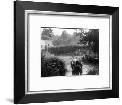 Wolseley competing in the B&HMC Brighton-Beer Trial, Windout Lane, near Dunsford, Devon, 1934-Bill Brunell-Framed Photographic Print