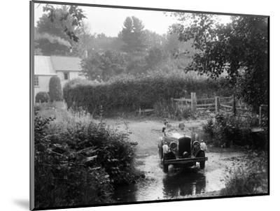 Wolseley competing in the B&HMC Brighton-Beer Trial, Windout Lane, near Dunsford, Devon, 1934-Bill Brunell-Mounted Photographic Print