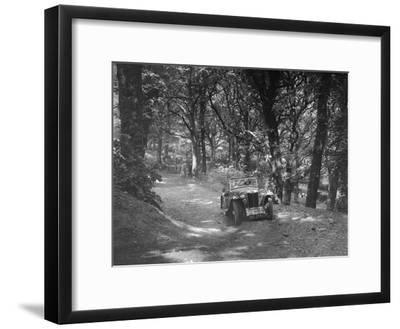 MG PA taking part in the B&HMC Brighton-Beer Trial, Fingle Bridge Hill, Devon, 1934-Bill Brunell-Framed Photographic Print