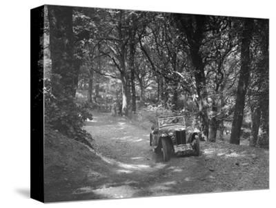 MG PA taking part in the B&HMC Brighton-Beer Trial, Fingle Bridge Hill, Devon, 1934-Bill Brunell-Stretched Canvas Print
