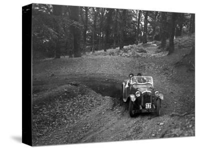 Austin 7 with Arrow body, B&HMC Brighton-Beer Trial, Fingle Bridge Hill, Devon, 1934-Bill Brunell-Stretched Canvas Print