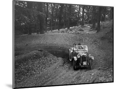Austin 7 with Arrow body, B&HMC Brighton-Beer Trial, Fingle Bridge Hill, Devon, 1934-Bill Brunell-Mounted Photographic Print