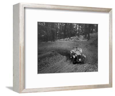 Austin 7 with Arrow body, B&HMC Brighton-Beer Trial, Fingle Bridge Hill, Devon, 1934-Bill Brunell-Framed Photographic Print