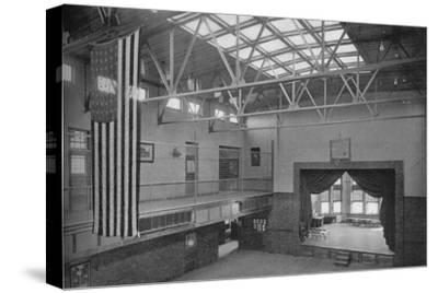 Auditorium-gymnasium, Edward S Bragg School, Fond du Lac, Wisconsin, 1922--Stretched Canvas Print