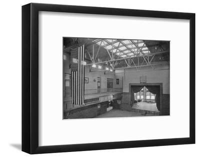 Auditorium-gymnasium, Edward S Bragg School, Fond du Lac, Wisconsin, 1922--Framed Photographic Print