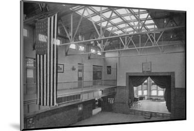 Auditorium-gymnasium, Edward S Bragg School, Fond du Lac, Wisconsin, 1922--Mounted Photographic Print
