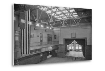 Auditorium-gymnasium, Edward S Bragg School, Fond du Lac, Wisconsin, 1922--Metal Print