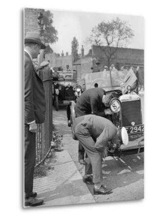 Inspecting the Star car of B Mott-Bill Brunell-Metal Print