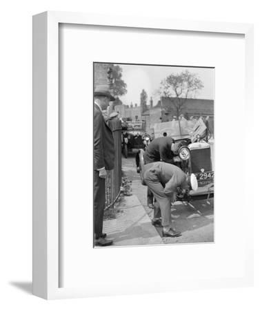 Inspecting the Star car of B Mott-Bill Brunell-Framed Photographic Print
