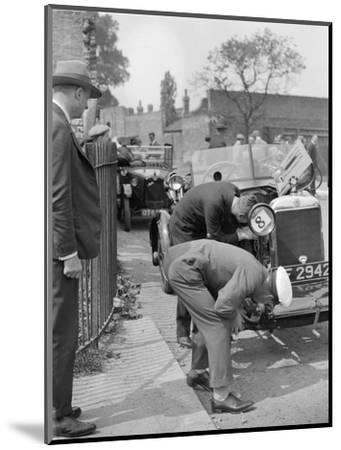 Inspecting the Star car of B Mott-Bill Brunell-Mounted Photographic Print