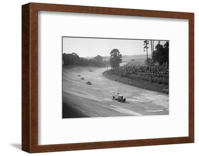 Talbot 90 on the banking at Brooklands, 1930s-Bill Brunell-Framed Photographic Print