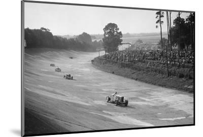 Talbot 90 on the banking at Brooklands, 1930s-Bill Brunell-Mounted Photographic Print