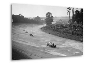 Talbot 90 on the banking at Brooklands, 1930s-Bill Brunell-Metal Print