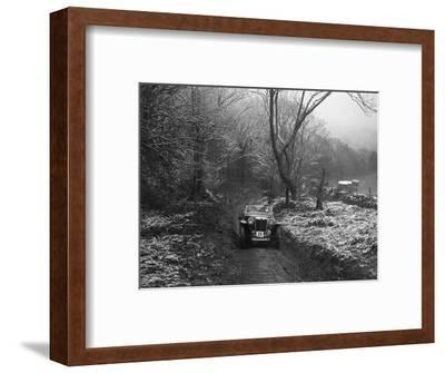 MG PB taking part in a motoring trial, late 1930s-Bill Brunell-Framed Photographic Print