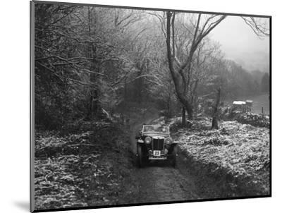 MG PB taking part in a motoring trial, late 1930s-Bill Brunell-Mounted Photographic Print