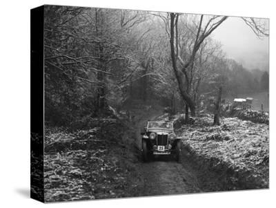 MG PB taking part in a motoring trial, late 1930s-Bill Brunell-Stretched Canvas Print
