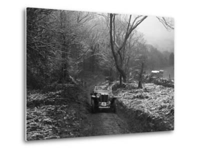 MG PB taking part in a motoring trial, late 1930s-Bill Brunell-Metal Print