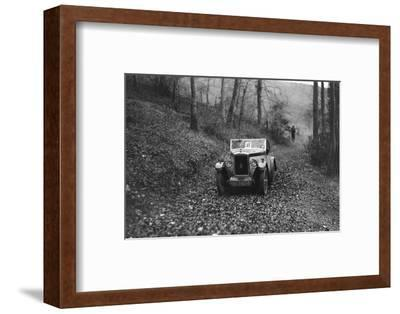 W Wrights Morris Minor with body by Arrow competing in the Inter-Varsity Trial, November 1931-Bill Brunell-Framed Photographic Print