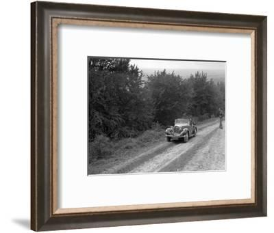 1936 Talbot 10 1185 cc competing in a Talbot CC trial-Bill Brunell-Framed Photographic Print