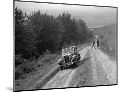 1936 Talbot 10 1185 cc competing in a Talbot CC trial-Bill Brunell-Mounted Photographic Print