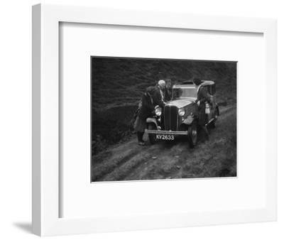 Kitty Brunell road testing a Standard Little Twelve saloon, c1932-Bill Brunell-Framed Photographic Print