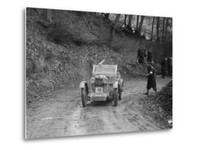 MG M Type 12 - 12 replica of Viscount Curzon, MG Car Club Trial, Waterworks Hill, Tring, 1931-Bill Brunell-Metal Print