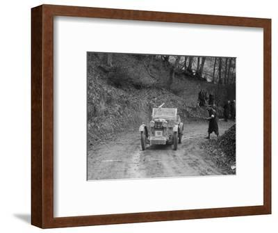 MG M Type 12 - 12 replica of Viscount Curzon, MG Car Club Trial, Waterworks Hill, Tring, 1931-Bill Brunell-Framed Photographic Print