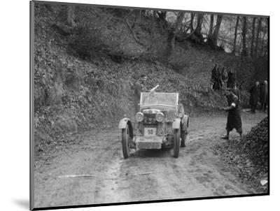 MG M Type 12 - 12 replica of Viscount Curzon, MG Car Club Trial, Waterworks Hill, Tring, 1931-Bill Brunell-Mounted Photographic Print