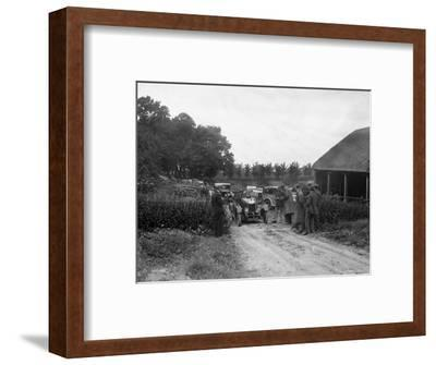 Morris Oxford and 1929 Crossley at the JCC Inter-Centre Rally, 1932-Bill Brunell-Framed Photographic Print